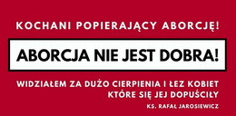 Ksiądz postawi antyaborcyjny baner przy polskiej autostradzie?