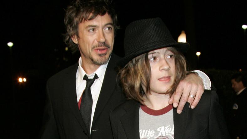 Robert Downey Jr. z synem Indio w 2007 roku