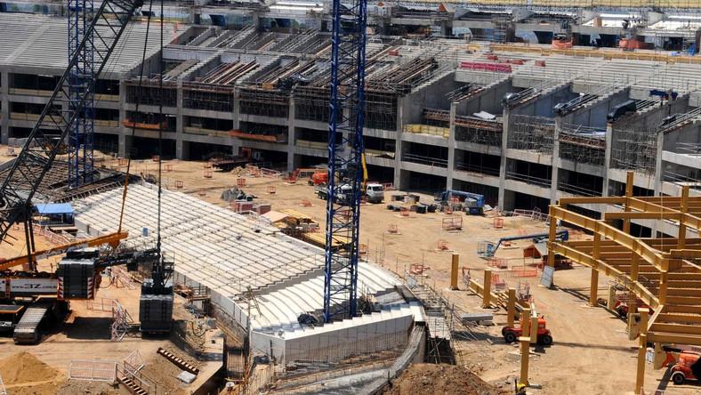 Budowa stadionu w Sao Paulo