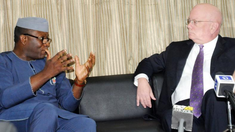 Fayemi discusses with US Ambassador