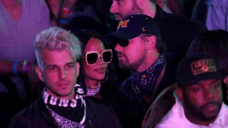 Rihanna and Leonardo DiCaprio at Coachella 2016