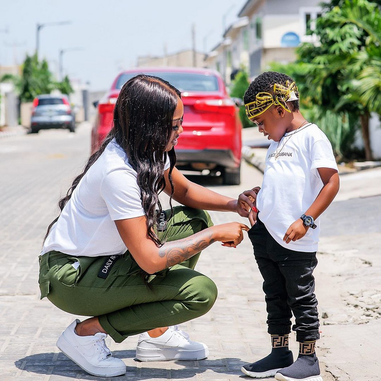 According to the music star, she would go the extra mile to get gifts for her son to compensate him for her absence. [Instagram/TiwaSavage]