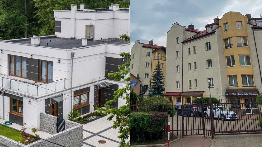 Apartament w willi i mieszkanie w bloku
