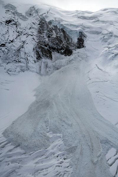 Oderwana część lodowca Trift