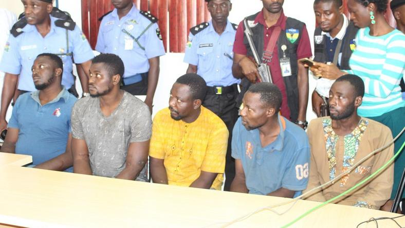 Leaders of the gang that carried out Offa robbery attack paraded for the second time by police in Abuja