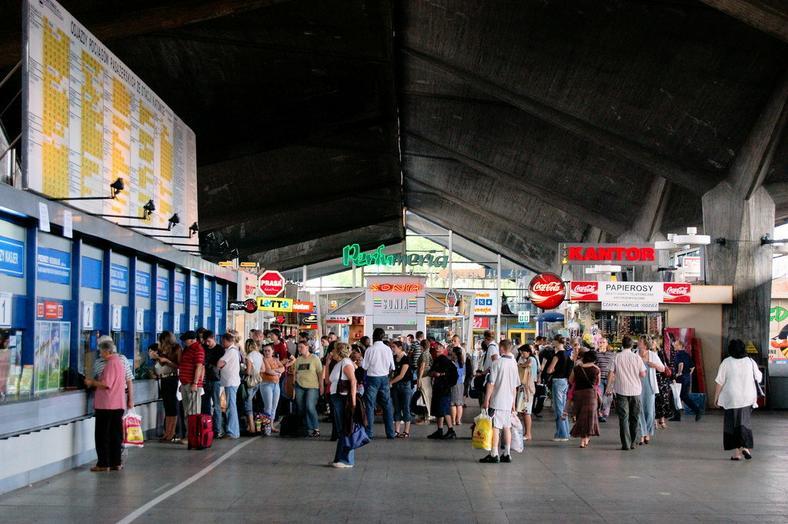 Stary dworzec PKP w Katowicach w czerwcu 2010 roku