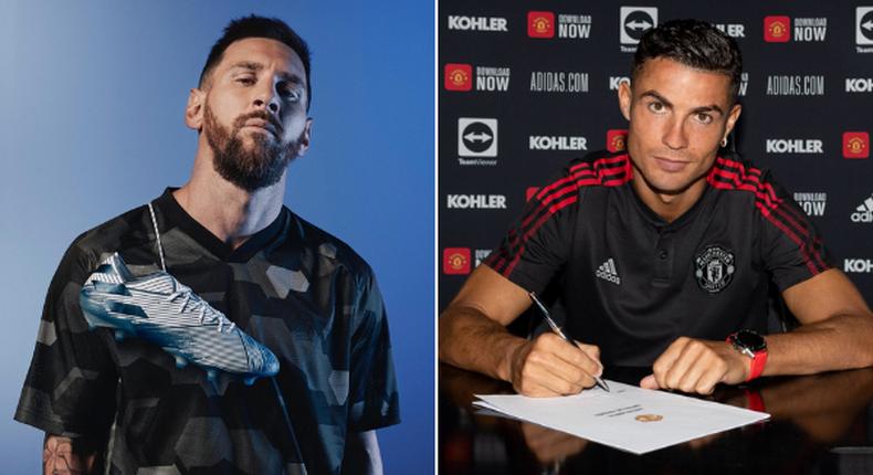Argentinian footballer Lionel Messi and his Portuguese counterpart Cristiano Ronaldo