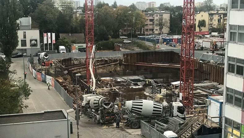 Plac budowy przy ulicy Stańczyka