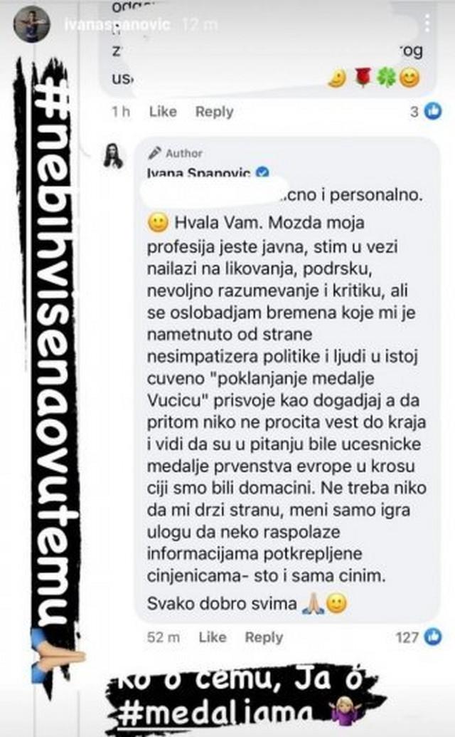 Komentari Ivane Španović