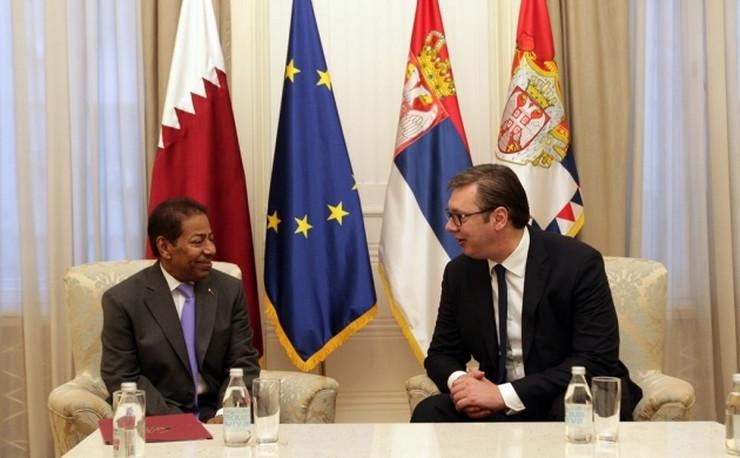 Aleksandar Vučić, šеik Mubarak bin Fahad Džasima Mohamеd Al-Tani, Katar, Ambasador