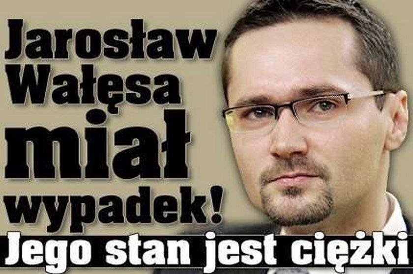 Jarosław Wałęsa miał wypadek! Jest w ciężkim stanie