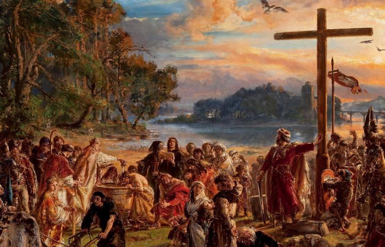 """Jan Matejko """"Zaprowadzenie chrześcijaństwa"""" (1889)"""
