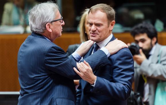Junker i Donald Tusk, raniji predsednik liberalne vlade u Poljskoj