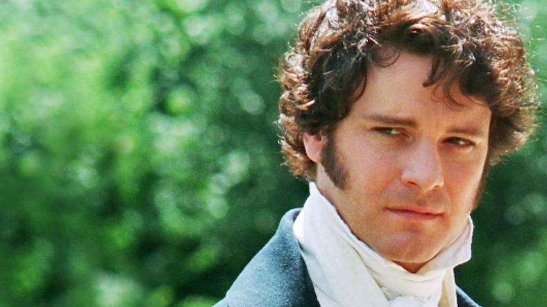 """Colin Firth jak pan Darcy - kadr z serialu BBC """"Duma i uprzedzenie"""""""