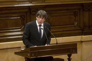 Katalońska opozycja: Wystąpienie Puigdemonta to 'zamach'