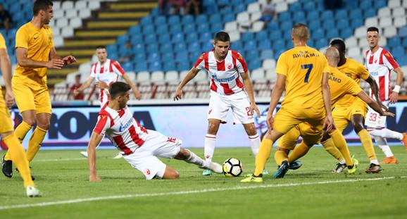 Fudbaleri Zvezde pobedili su Dinamo iz Vranja sa 2:0