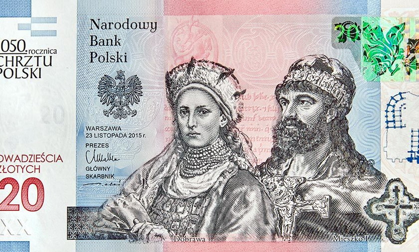 Nowe banknoty 20 zł.