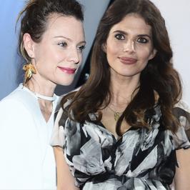 Magdalena Boczarska i Weronika Rosati na gali finałowej festiwalu w Gdyni. Przyszłe mamy zachwycają stylem