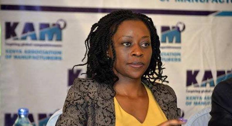 Phyllis Wakiaga, CEO, Kenya Association of Manufacturers (KAM). (Citizen TV)