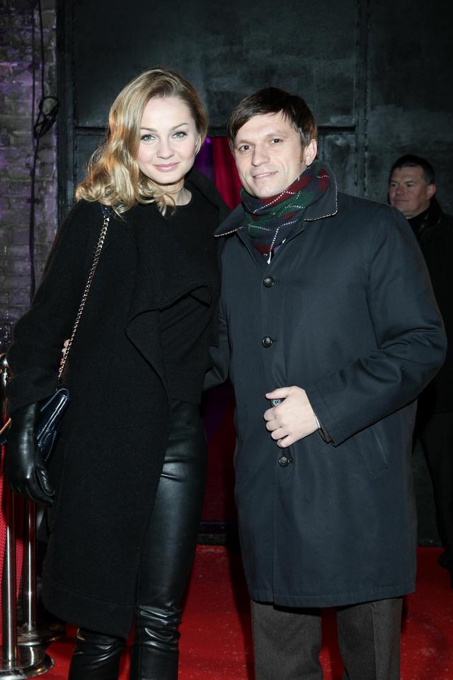 Małgorzata Socha z mężem