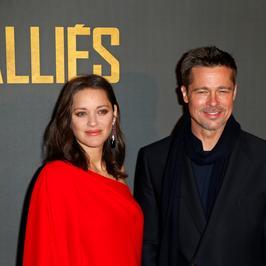 """Marion Cotillard i Brad Pitt na premierze filmu """"Sprzymierzeni"""""""