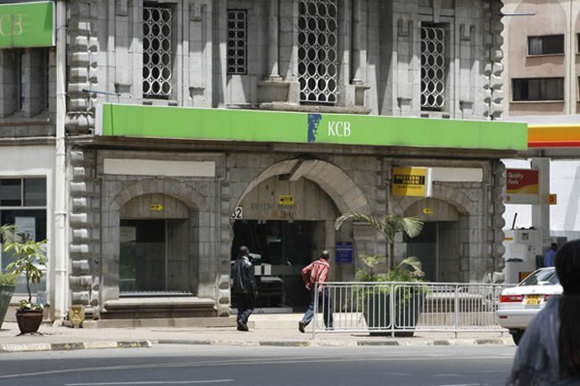 A Kenya Commercial Bank (KCB) branch in Nairobi.