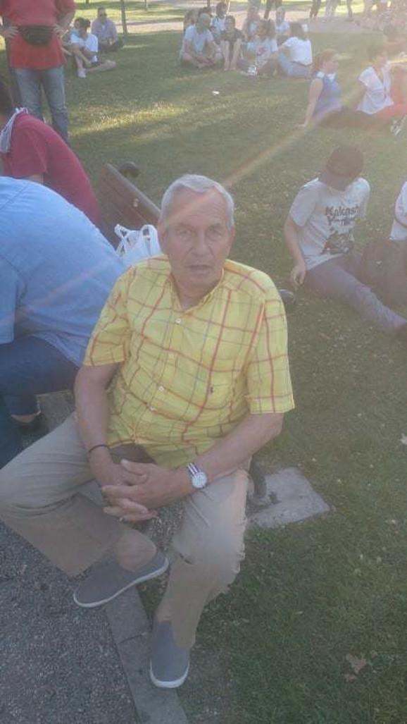 Džo Bagerista učestvovao je na tekućim demonstracijama u Beogradu