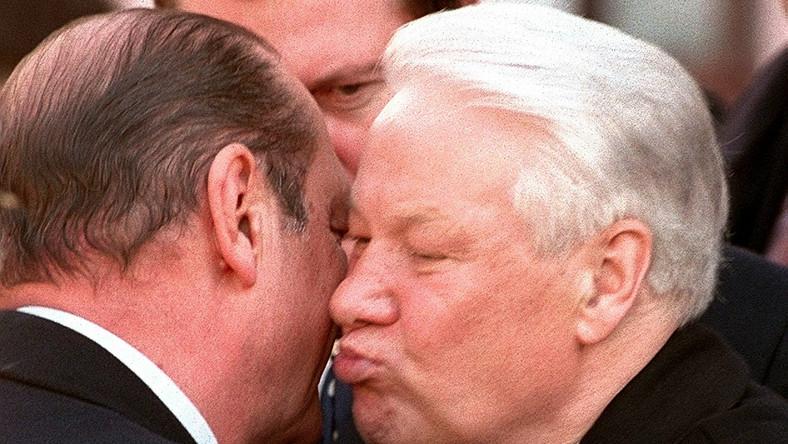 Borys Jelcyn i Jacques Chirac