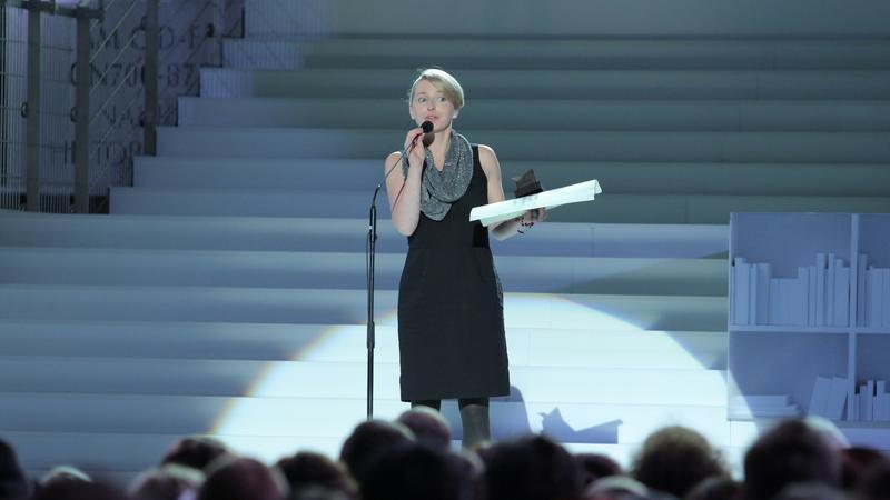 Kaja Malanowska podczas rozdania nagród NIKE 2013