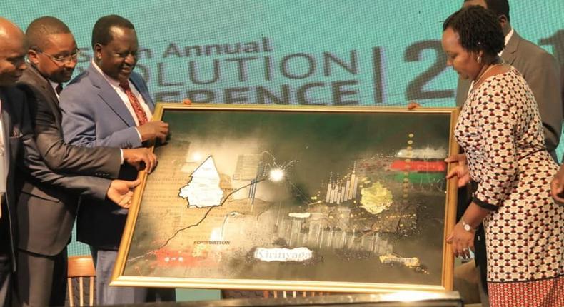 Raila Odinga at the sixth annual Devolution Conference