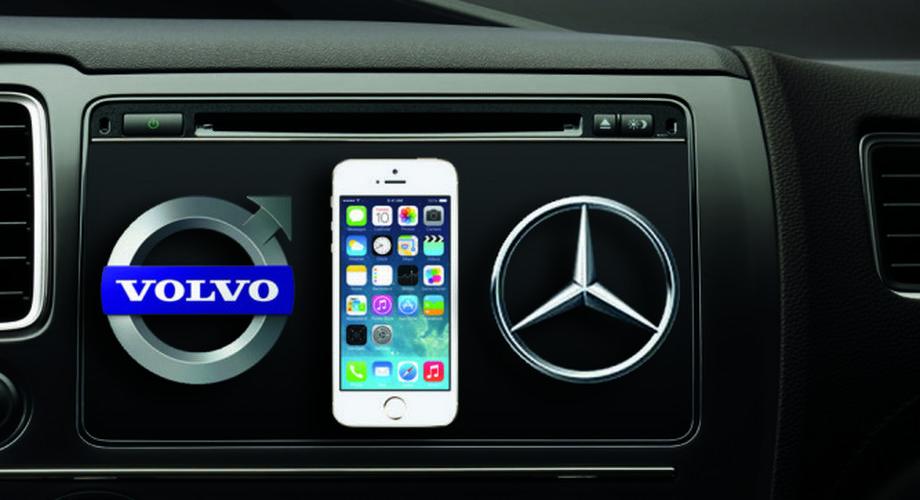 Volvo und Daimler zeigen Apple-CarPlay-Integration