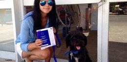 Bezpański pies uratował ją przed bandytami. Przygarnęła go