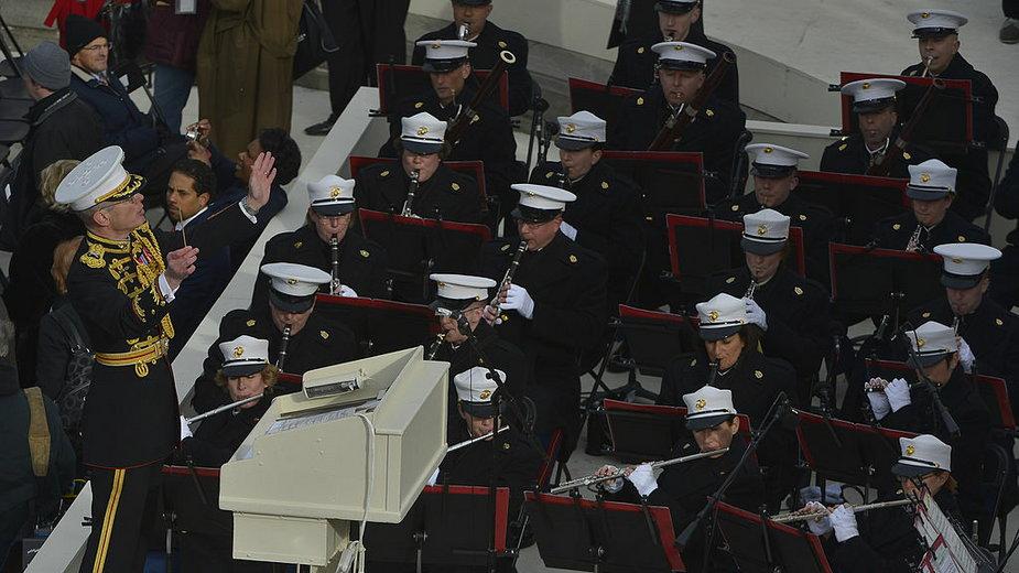 US Marine Corps występują podczas inauguracji Baracka Obamy w 2013 r.