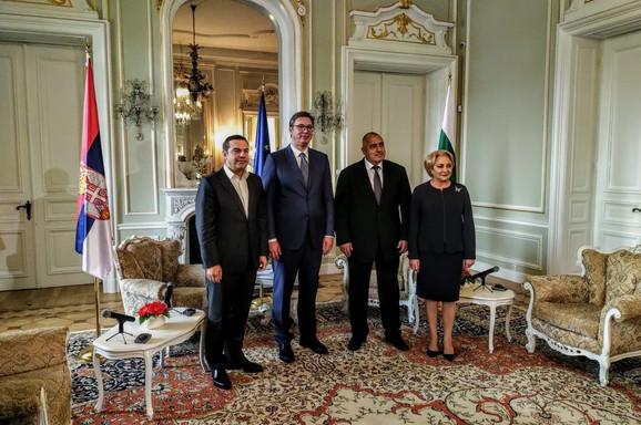 Aleksis Cipras, Aleksandar Vučić, Bojko Borisov i Vjorika Danćila