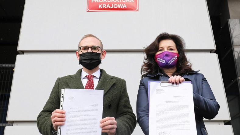 Posłowie KP Lewicy Beata Maciejewska oraz Maciej Kopiec