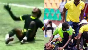 Tema Youth goalkeeper Christian Addai suffers horrific leg break in DOL Super Cup
