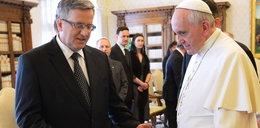 Prezydent Komorowski z żoną na audiencji u papieża