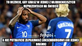 Francja sensacyjnie remisuje z Luksemburgiem. Memy po meczu