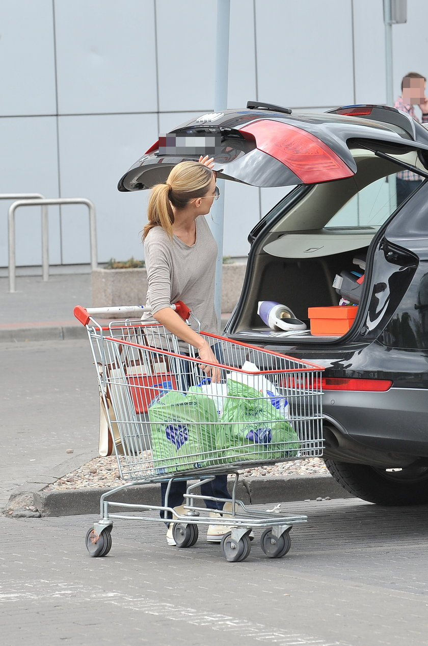 Małgorzata Rozenek na zakupach