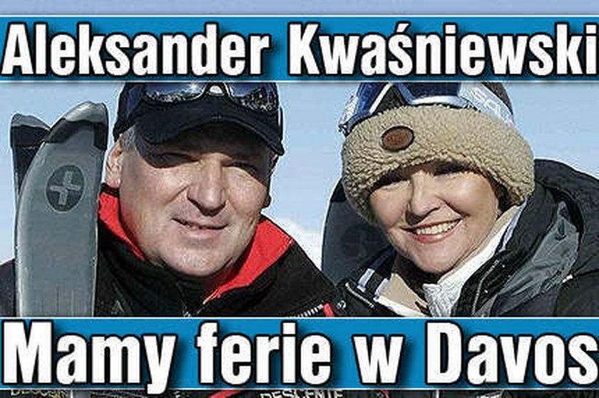 Aleksander Kwaśniewski. Mamy ferie w Davos