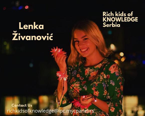Valjevska gimnazijalka Lenka Živanović