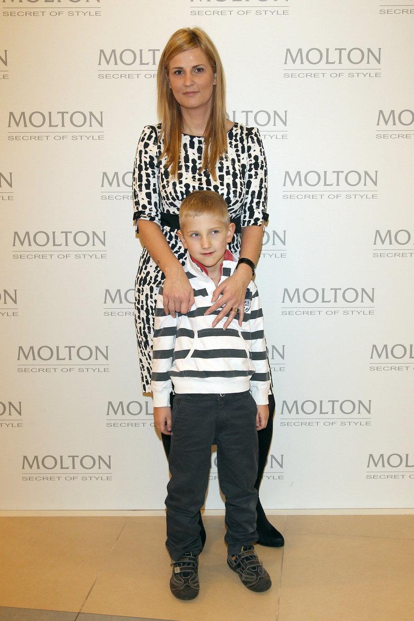 Dominika Tajner z synem Maksem