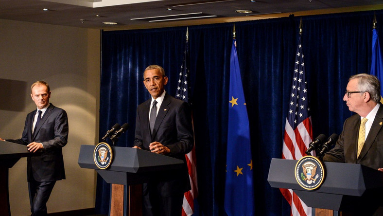 Tusk, Obama i Juncker
