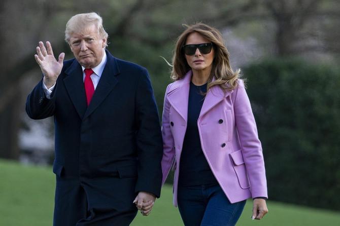 Melanija (da li je) i Donald Tramp nedavno u Vašingtonu