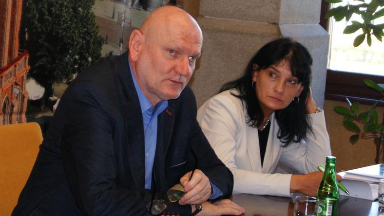 Prezydent Michał Zaleski i skarbnik Magdalena Flisykowska-Kacprowicz
