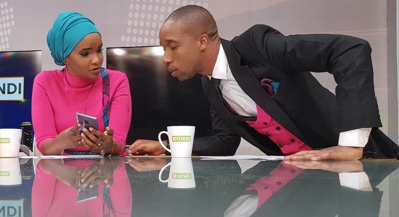 Rashid Abdalla with Lulu Hassan (Instagram)