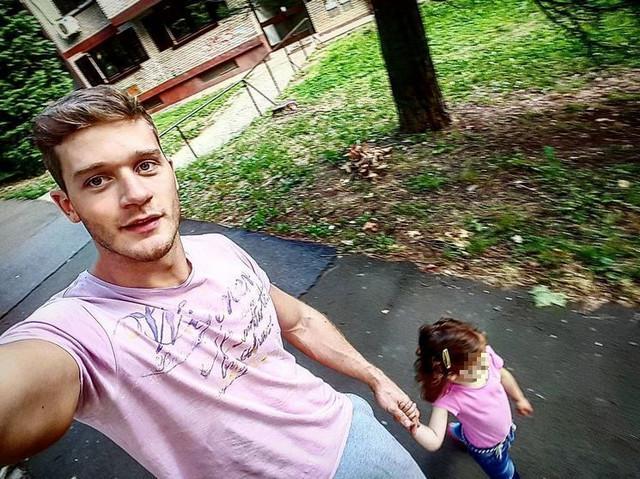 Aleksandar Radojičić sa ćerkom