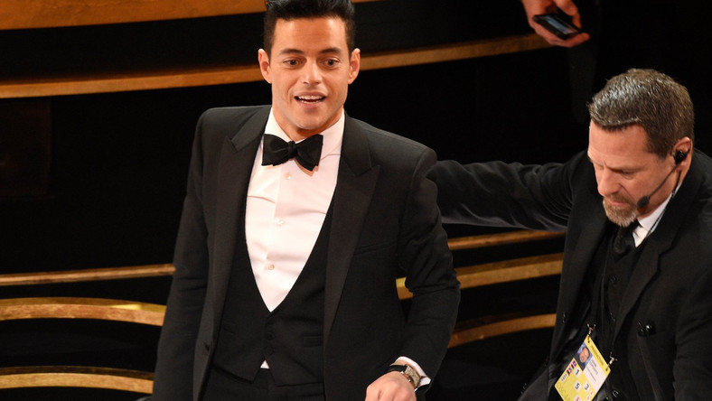 Rami Malek, recipient of the award for best performance by an actor in a leading role for