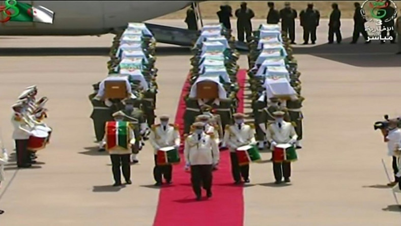 Algeria receives with full honours the skulls of 24 resistance fighters decapitated during French colonial rule that were held in storage in a Paris museum