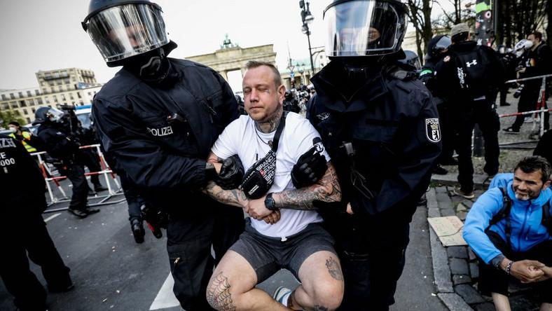 Protest koronasceptyków w Niemczech